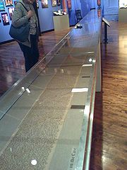 The original manuscript of Jack Kerouac's 'On The Road': a 120-foot scroll, 2007.