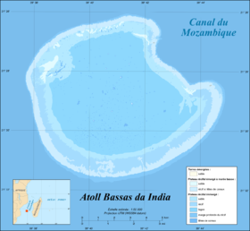 Carte de l'île Bassa-da-India.
