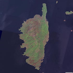 Photosatellite de la Corse (NASA)